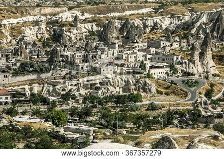 Goreme.turkey.may 26, 2013.view Of The Goreme Cave City In Cappadocia In Turkey.