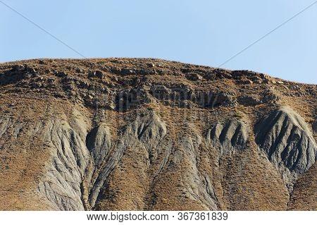 Crimea Landscape. Beautiful Mountain Landscape, Crimea Ordzhonikidze. Geology, Weathering Of The Soi