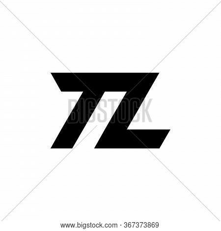Logo Tl Monogram Letter Logo, Black And White Parallel Lines Creative Initials Lt