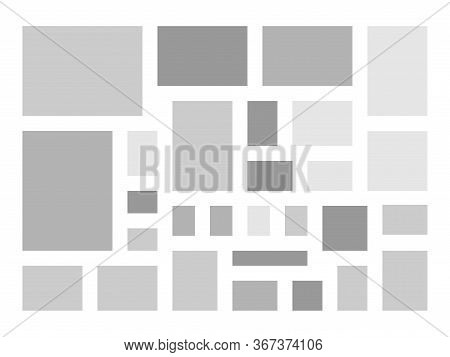 Mood Board Template Collage Frames For Photo Or Illustration. Vector Frame For Photographies And Pic