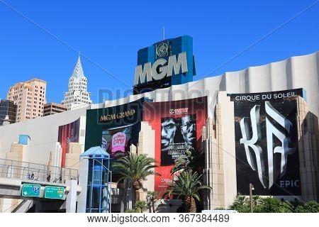 Las Vegas, Usa - April 14, 2014: Mgm Grand Casino Resort In Las Vegas. There Are 104 Casinos In Las