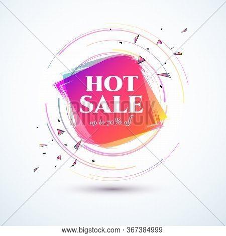 Banner Hot Sale 70 Off Bright Duotone Gradient Banner For Web Stores Shop Online Sale Sticker Promo