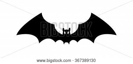 A Bat Silhouette Simple Black Isolated Illustration Halloween Icon