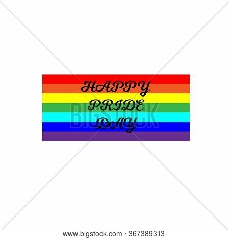 Set Of Modern Colorful Horizontal Banners For Pride Month. Vector Illustration In Lgbt Colors. Gay C