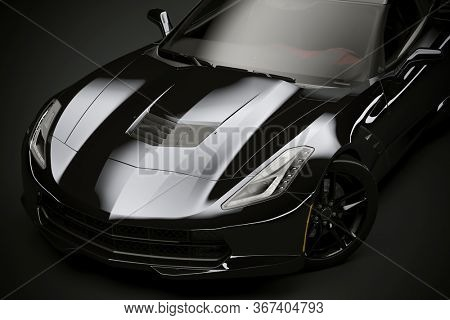 3d render of modern sport car