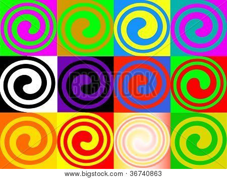 colorful spiral for advertising and graphics