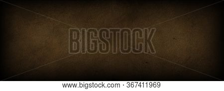 Abstract Grunge Vintage Cement Wall Background With Brown Color. Old Cement. Concrete With Rough Tex