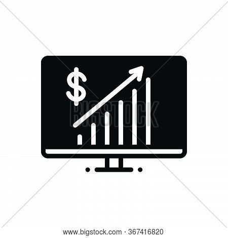 Black Solid Icon For Business-progress Business Progress Achievement Investment Statistic