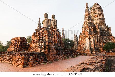 Wat Chai Watthanaram, antike Tempel in Ayutthaya, Thailand.