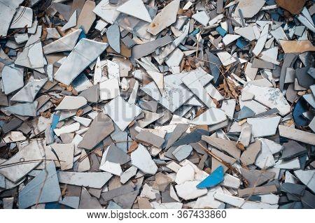 A Bunch Of A Broken Mirror. Pieces Of Broken Mirror