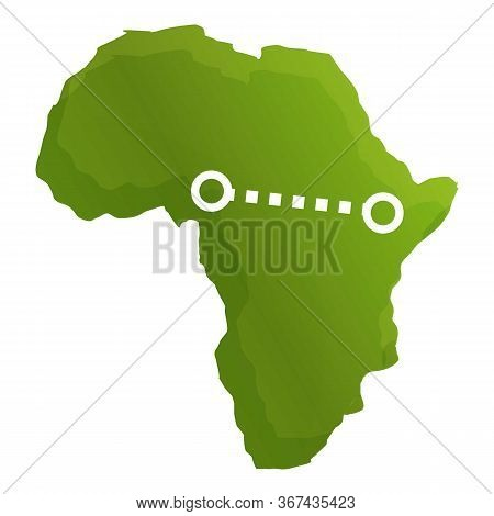 Africa Safari Route Icon. Cartoon Of Africa Safari Route Vector Icon For Web Design Isolated On Whit