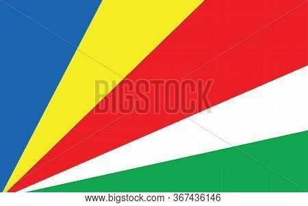 Seychelles Flag Vector Graphic. Rectangle Seychellois Flag Illustration. Seychelles Country Flag Is