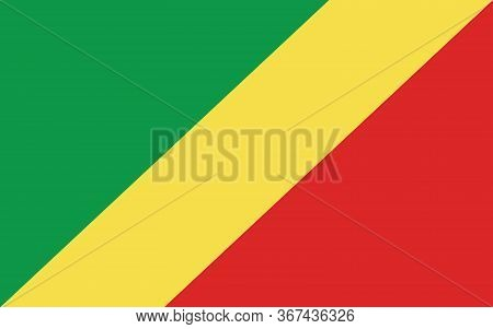 Congo Flag Vector Graphic. Rectangle Congolese Flag Illustration. Republic Of Congo Country Flag Is