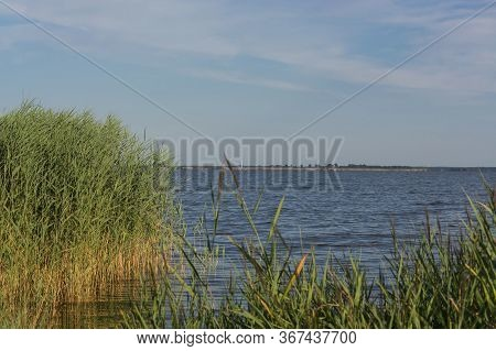 Bodden Landscape. View From The Bay To The Sea. Fischland-darß-zingst, Near Wieck Am Darß