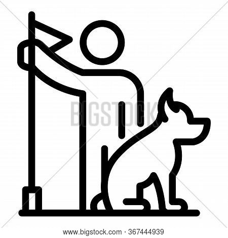 Start Dog Training Icon. Outline Start Dog Training Vector Icon For Web Design Isolated On White Bac