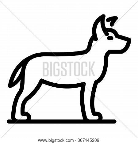 Attack Dog Icon. Outline Attack Dog Vector Icon For Web Design Isolated On White Background
