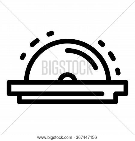 Meat Circular Blade Icon. Outline Meat Circular Blade Vector Icon For Web Design Isolated On White B