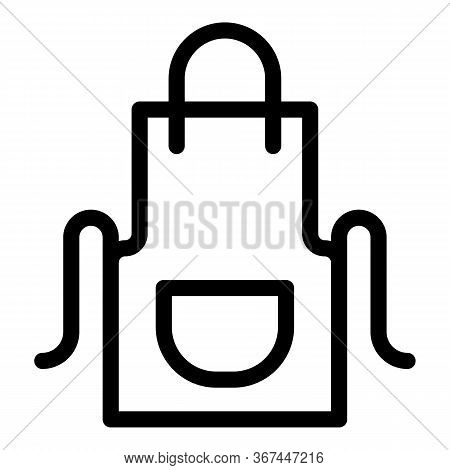 Meat Textile Apron Icon. Outline Meat Textile Apron Vector Icon For Web Design Isolated On White Bac