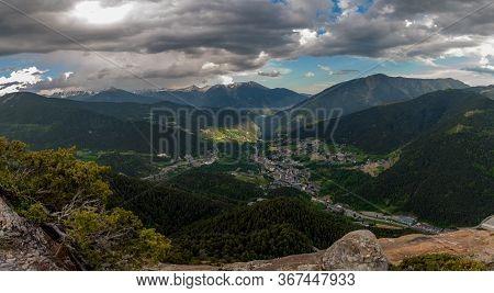Landscape Of Parc Natural Comunal De Les Valls Del Comapedrosa National Park In Andorra.