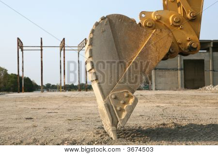 Up Close With A Back Hoe