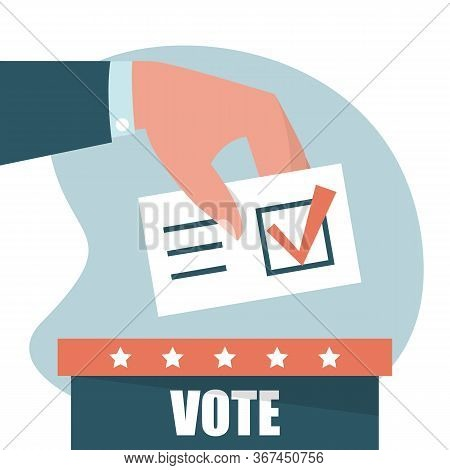 Hand Puts Vote In The Ballot Box