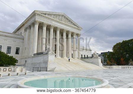 U.S. Supreme Court Building and dramatic sky - Washington D.C. United States of America