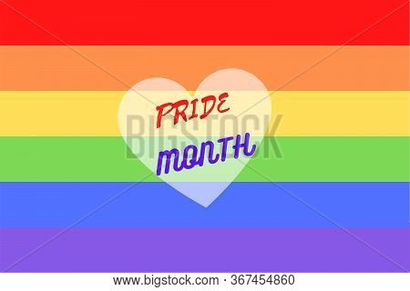 Illustration Of Colorful Rainbow Flag Or Pride Flag / Banner Of Lgbtq (lesbian, Gay, Bisexual, Trans