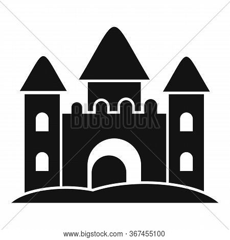 Castle Made Of Sand Icon. Simple Illustration Of Castle Made Of Sand Vector Icon For Web Design Isol