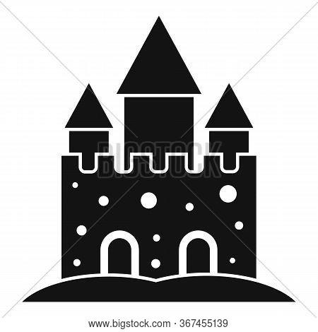 Fantasy Castle Sand Icon. Simple Illustration Of Fantasy Castle Sand Vector Icon For Web Design Isol