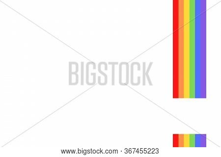 Illustration With Colorful Rainbow Flag Or Pride Flag / Banner & White Background Of Lgbtq (lesbian,