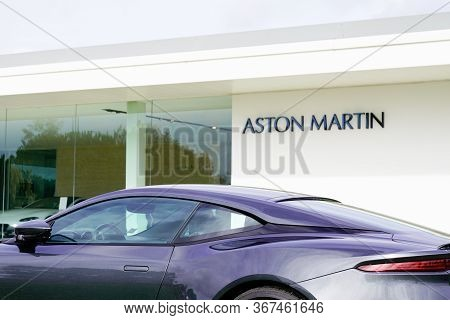 Bordeaux , Aquitaine / France - 09 24 2019 : Aston Martin Car Sign On An Elegant Facade With Copy Sp