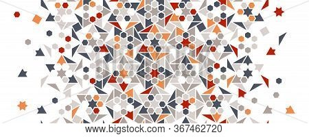 Arabic Turkish Colorful Vector Seamless Pattern. Geometric Arabic Halftone Pattern, Texture With Col
