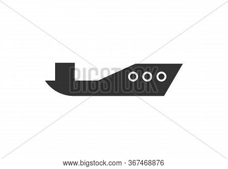 Boat Icon Isolated On White Background From Children Toys Collection. Boat Icon Trendy And Modern Bo