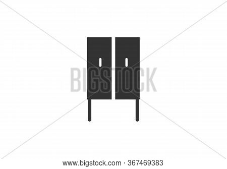 Minimalist Furniture Interior Silhouette Logo, Furniture Icon Isolated On White Background