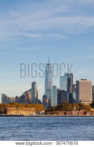 New York City - October 20:  The Lower Manhattan Skyline In New York City Is Viewed From The Brookly