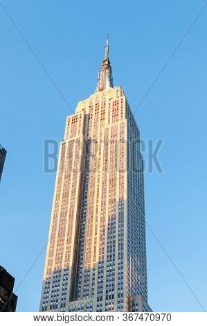 New York City - October 20:  The Empire State Building Was The Worlds Tallest Structure At The Time