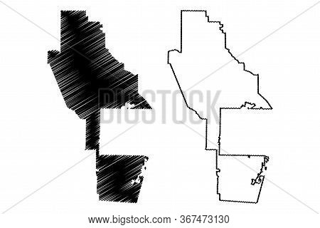 Ware County, Georgia (u.s. County, United States Of America, Usa, U.s., Us) Map Vector Illustration,