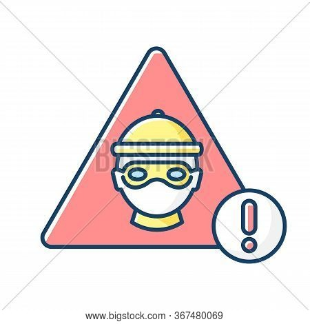 Cyber Crime Rgb Color Icon. Hacker Attack. Internet Fraud Threat. Information Stealing Alert. Data P