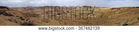 Panorama Of Ein Avdat Near Sde Bokerin  The Negev Desert Israel Touristic Landmark Attraction - Ther