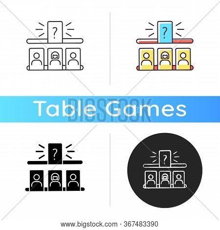 Storytelling Game Icon. Entertaining Family Pastime, Fun Recreation. Game Night Activity. Linear Bla