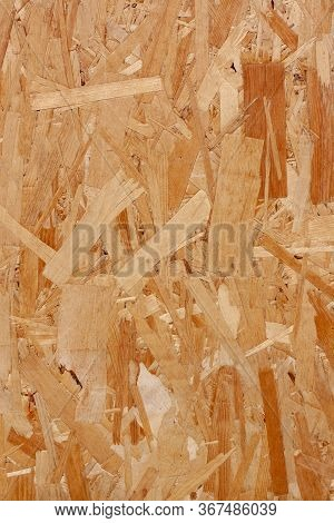 Wood Chipboard Texture. Plate Osb For Background. Hardboard Wood Texture. The Structure Of The Press
