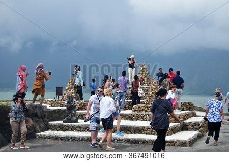 Meru Towers Of Pura Ulun Danu Bratan Or Pura Bratan Hindu Shaivite Shiva Temple Archaeological Site