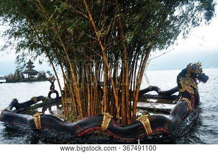 Naga Balinese Style And Bamboo Clump Of Pura Ulun Danu Bratan Or Pura Bratan Temple Archaeological S