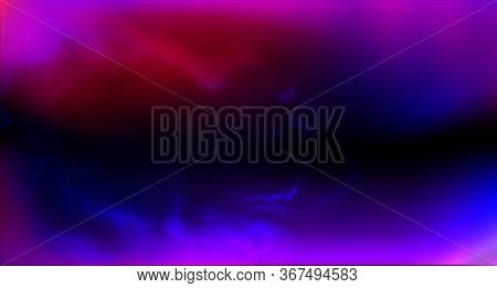Realistic Purple Fog. Copy Space. Colored Fog.occult Smoke. Neon Color. Vector Stock Illustration. P