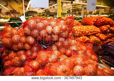 Yellow Onions At The Supermarket