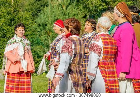 Petrozavodsk, Russia - September 15th,2019: A Female Folk Group From The City Of Petrozavodsk Perfor