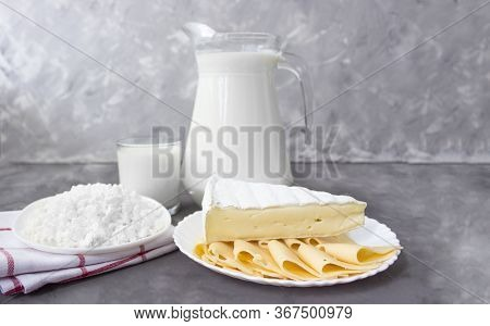 Milk, Cottage Cheese, Cheese. Life Of Fresh Dairy Products. Fresh Dairy Products. Milk Products For