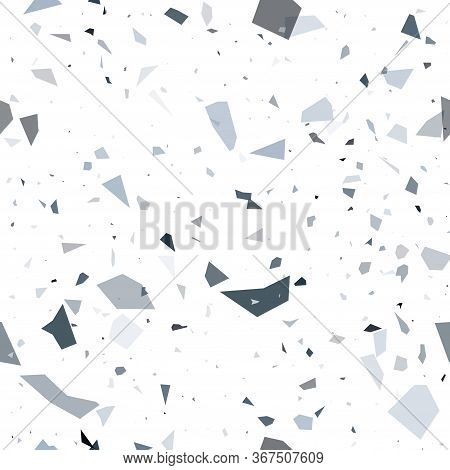 Terrazzo Flooring Vector Seamless Pattern. Modern Vector Illustration For Fabric Print, Wrapping Pap
