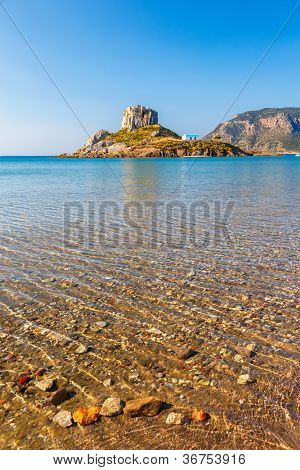 View on little island Kastri near Kos, Greece