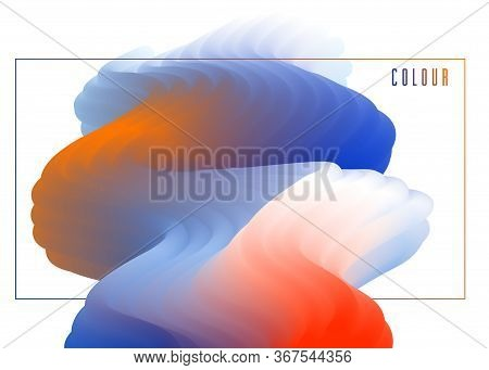 Gradient Color 3d Fluid Shape Vector Abstract Background, Dynamic Dimensional Design Element In Moti
